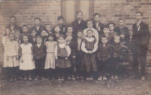 Students At Buckeye School Route 73 Ohio 1910 or 1911 Evan Steddom Teacher Fi...