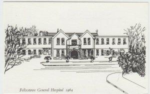 Suffolk; Felixstowe General Hospital, 1964, Artist Drawn PPC, Unused