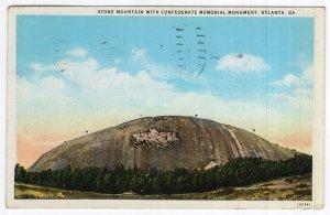 Atlanta, Ga, Stone Mountain With Confederate Memorial Monument