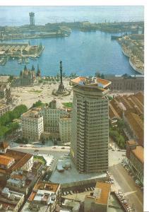 Postal 045858 : Barcelona. Detalle del puerto vista aerea
