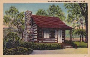 Washingtons Headquarters Cumberland Maryland