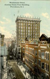 RI - Providence. Westminster Street, showing Union Trust Building, circa 1911