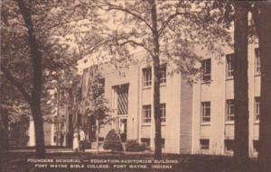 Indiana Fort Wayne Bible College Founders Memorial Education-Auditorium Building