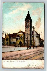 Allegheny PA-Pennsylvania Carnegie Library, Vintage Postcard