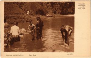 INDONESIA PC DUTCH INDIES - Javanese women bathing - East Java (a1735)