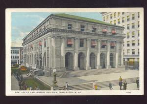 CHARLESTON WEST VIRGINIA UNITED STATES POST OFFICE VINTAGE POSTCARD