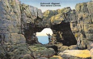 Vintage 1920s Postcard, Dubrovnik, Croatia,  most naravni lokrum ES1