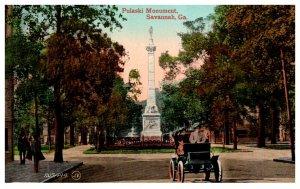 Georgia  Savannah ,  Pulaski Monument