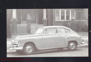 1952 PLYMOUTH CONCORD VINTAGE CAR DEALER ADVERTISING POSTCARD