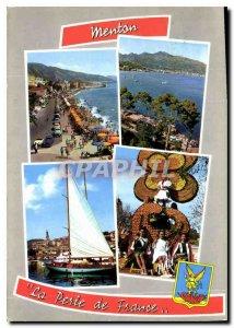 Postcard Moderne Menton Pearl of France