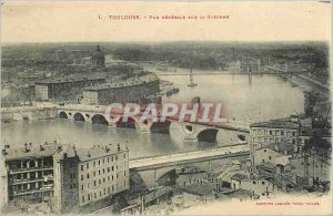 Old Postcard TOULOUSE - g�n�rale view on the Garonne