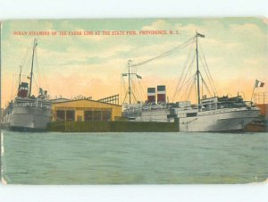 Pre-chrome BOAT SCENE Providence Rhode Island RI AF5168