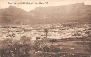 South Africa, Cape Town and Table Mountain from Signal Hill 1913