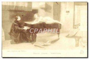 Old Postcard Paris Salons Bacchi Cesar Piano Vibrations