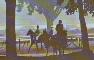 New York Saratoga Springs Raceway Morning Mist 1973