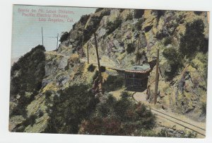 P2242, old postcard on mt. lowe division pacific electric railway, calif