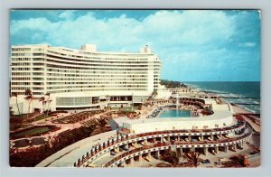 Miami Beach FL- Florida, Fontainebleu Hotel, Chrome c1961 Postcard