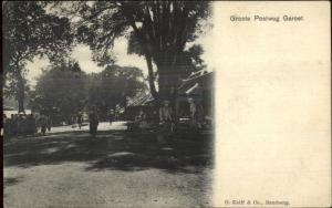Indonesia Bandung Bandoeng Goote Postweg Garoet c1900 Postcard