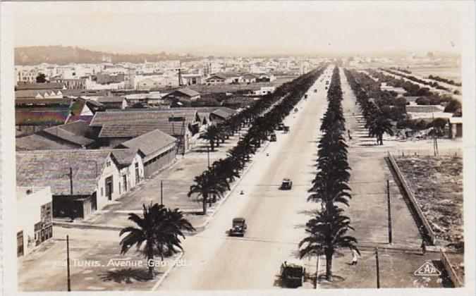Tunisia Tunis Avenue Gambetta Real Photo