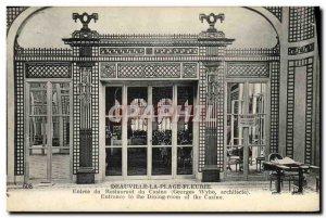 Old Postcard Deauville La Plage Fleurie entrance of the casino restaurant