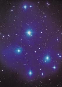 The Pleiades Star Cluster Armagh Irish Planetarium Astronomy Exhibit Postcard