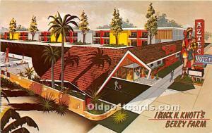 Buena Park, California, CA, USA Postcard Aztec Motel Unused