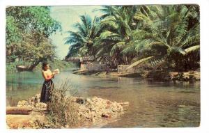 Lady At The White River, Ocho Rios, Jamaica, PU-1979