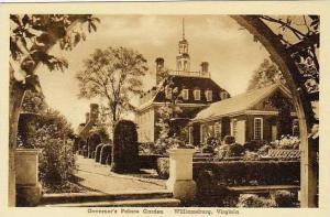 Virginia Williamsburg Governors Palace Garden Albertype