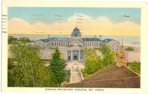 Dominion Penitentiary Kingston Ontario ON Canada , 1951 White Border