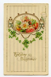 Birthday Greetings Vintage Embossed Postcard Standard View Card