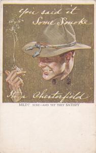 ADV; Chesterfield Cigarettes , North Carolina, 1900-10s
