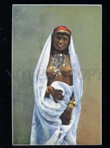 213631 Semi-nude Arabian girl belly dancer Vintage postcard