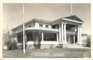Carson City Nevada Govern's Mansion 1940s Frasher RPPC Real photo postcard 6150