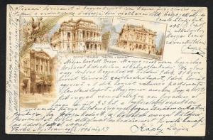 HUNGARY Multi Views of Budapest buildings Used c1896