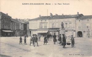 France Ligny-en-Barrois (Meuse) - La Place Nationale CPA
