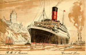 Cunard Line - RMS Ascania. Artist: Rosenvinge