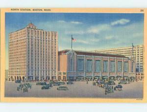 Unused Linen BUILDING Boston Massachusetts MA hn8981