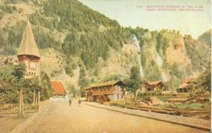 Switzerland, Mountain Stream in the Alps, near Meiringen,...