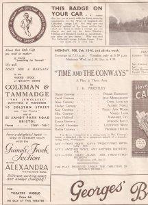Fair & Warmer Comedy Cyril Luckham Dr Who Bristol WW2 Theatre Programme