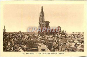 Postcard Old Strasbourg Panoramic taken from the Hospital