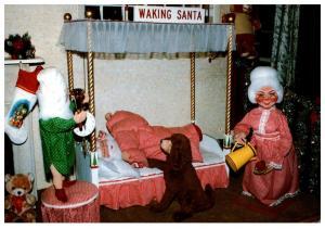 Connecticut , Dayville , Whipple's Christmas Wonderland ,  Waking Santa