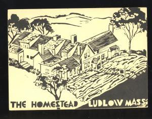 Ludlow, Massachusetts/MA/Mass Postcard, The Homestead Inn