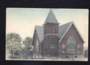MCARTHUR OHIO METHODIST EPISCOPAL CHURCH ANTIQUE VINTAGE POSTCARD