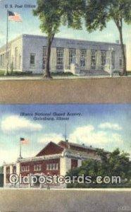 Galesburg, IL USA Post Office Unused