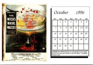 1990 Sheet Music Calendar Series October The Witch's Whirl Waltzes