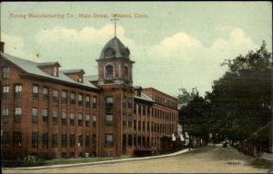 Winsted CT Strong Mfg Factory c1910 Postcard
