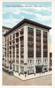 Oklahoma OK Postcard MUSKOGEE c1920 FLYNN-AMES Building
