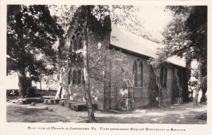 RP, Rear View Of Church at JAMESTOWN, Virginia, 1930-1940s
