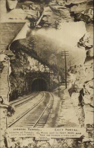 Hoosac Tunnel East Portal Berkshires MA c1910 Real Photo Postcard
