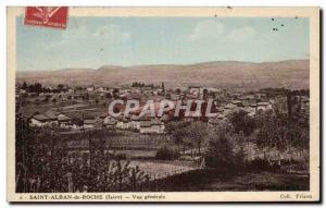 Old Postcard Saint Albin Roche Vue Generale